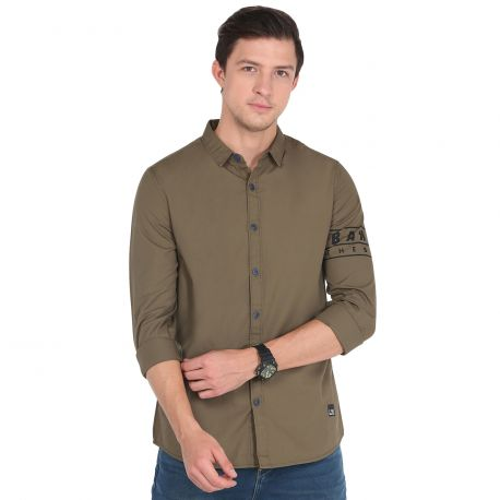 Solid Olive Shirt