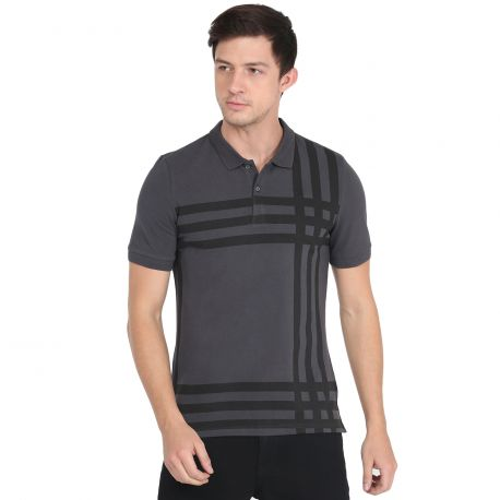 Solid Grey Polo Tshirt